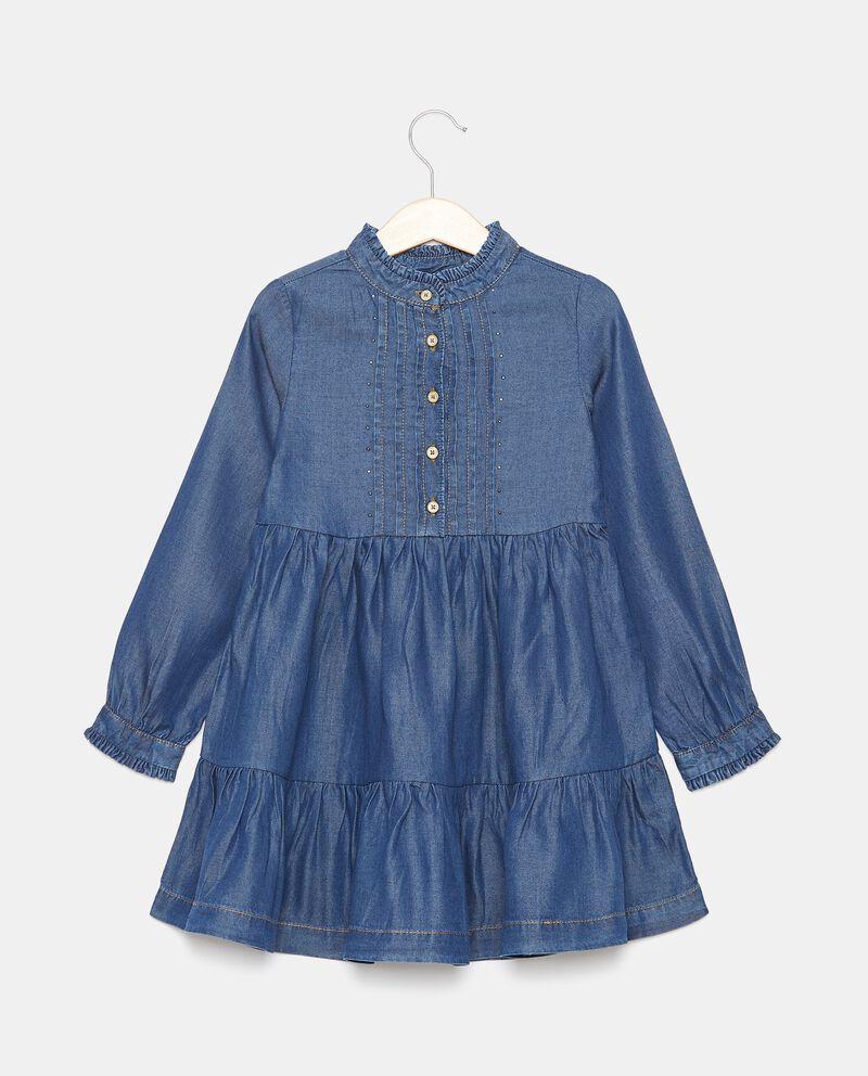 Vestito in lyocell con borchiette bambinadouble bordered 0
