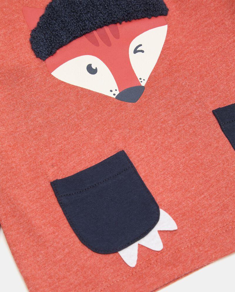 T-shirt con stampa ed applicazione in tessuto neonato single tile 1