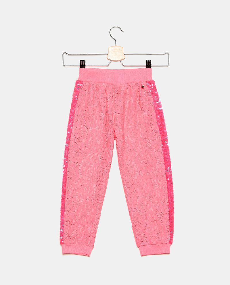 Pantaloni comfort in pizzo bambina