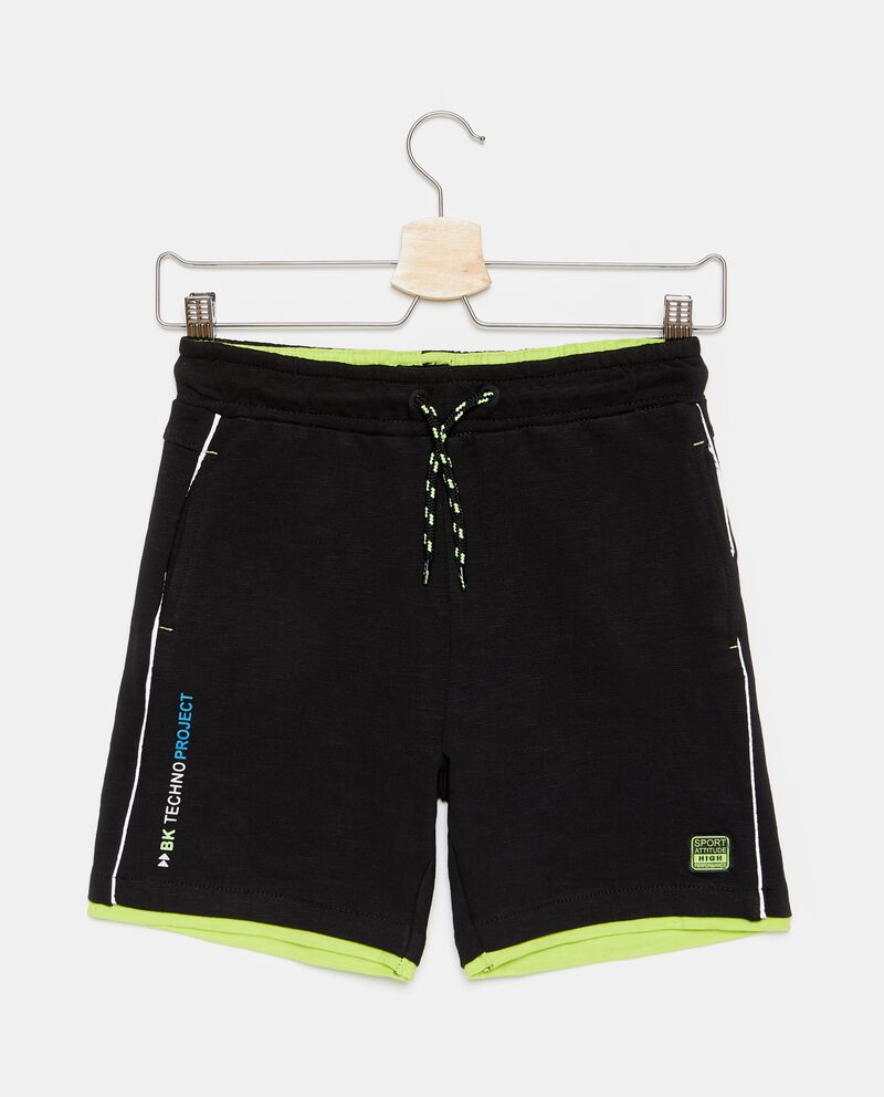Shorts puro cotone con coulisse