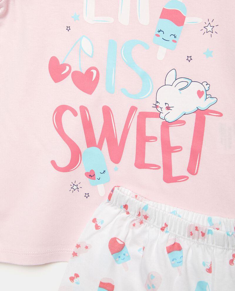 Bipack pigiami con stampe in puro cotone bambina