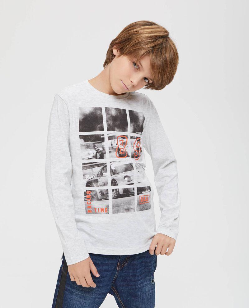 T-shirt girocollo stampa macchina