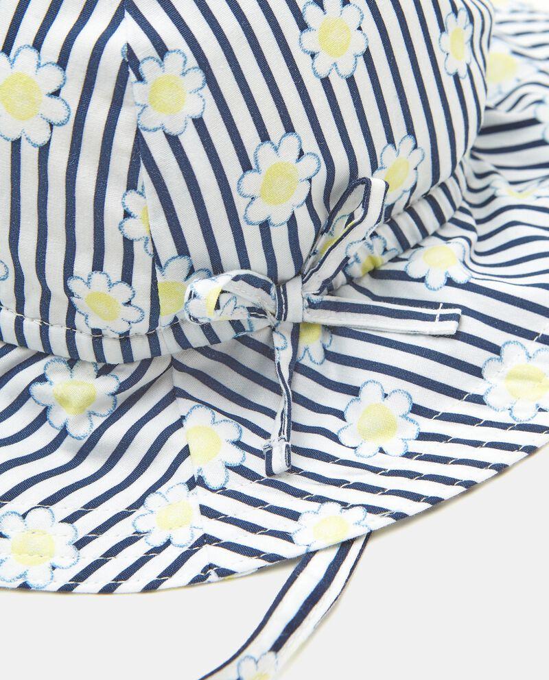 Cloche in puro cotone con stampa neonata