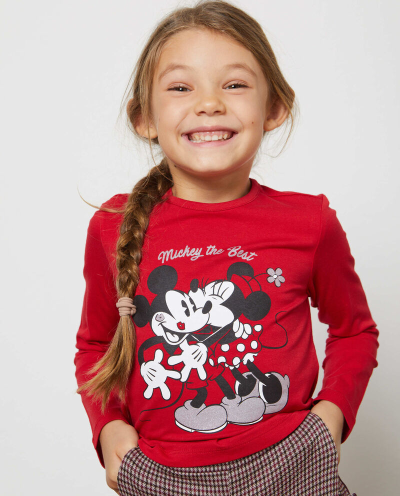 T-shirt stretch Mickey Mouse e Minnie