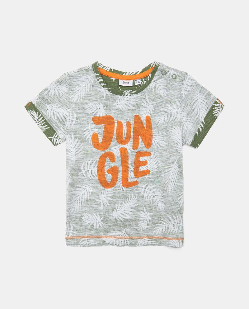 T-shirt in cotone organico stampata neonato