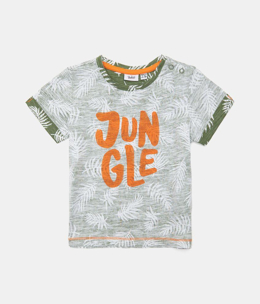 T-shirt in cotone organico stampata neonato double 1