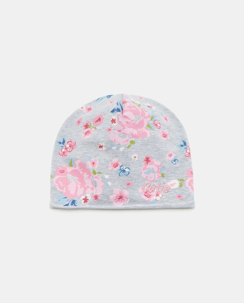 Cappellino con fantasia floreale