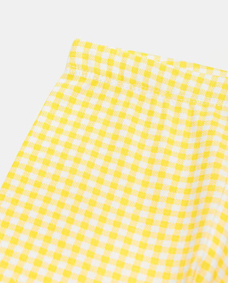 Leggings in cotone organico stampato neonata single tile 1