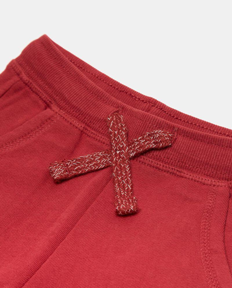 Pantaloni in puro cotone tinta unita neonato single tile 1