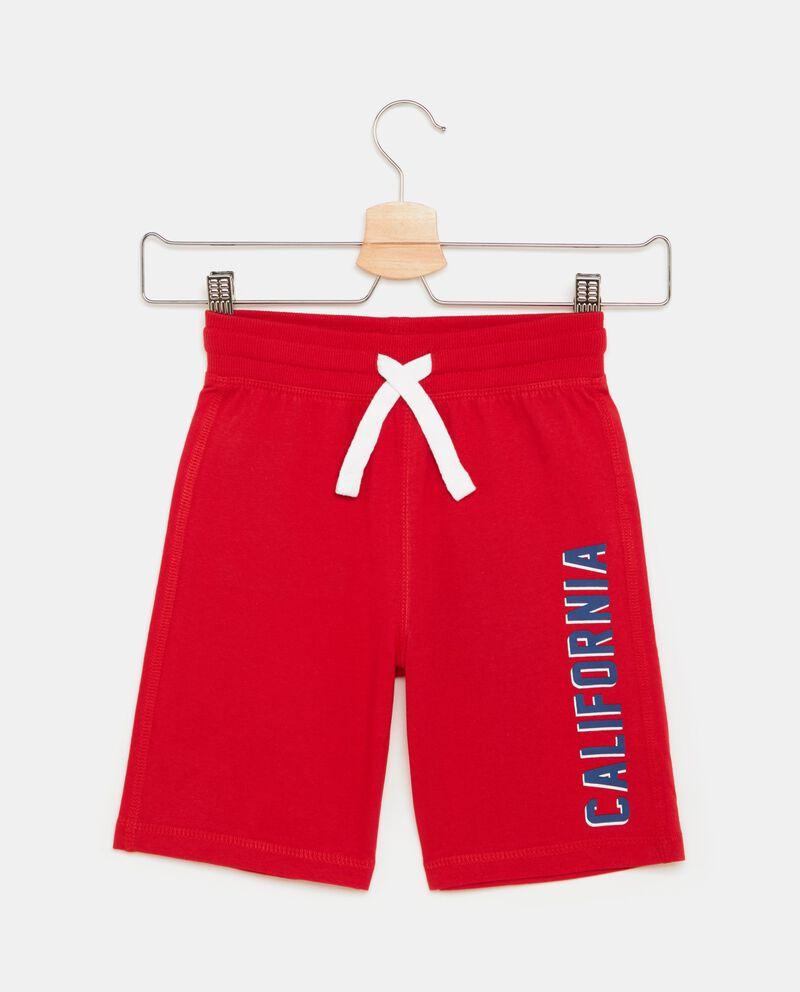 Shorts in tinta unita puro cotone bambino