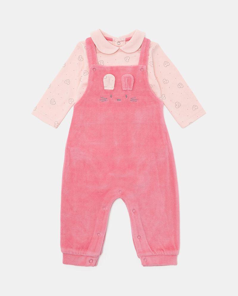 Set con salopette e maglia neonata
