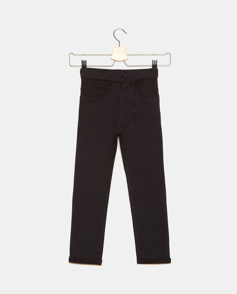Jeans in cotone stretch con cinque tasche ragazzo cover