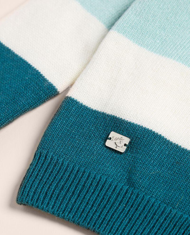 Cardigan a righe in lana merino e cashmere IANA single tile 1