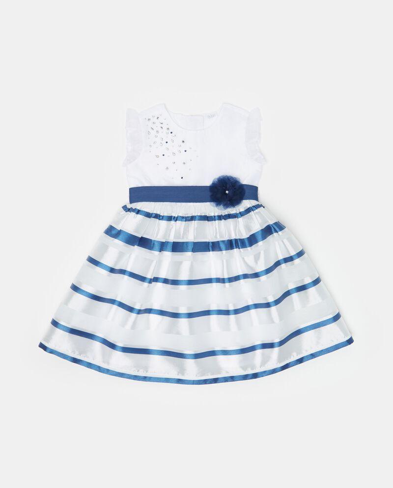Vestito smanicato con motivo a righe neonata