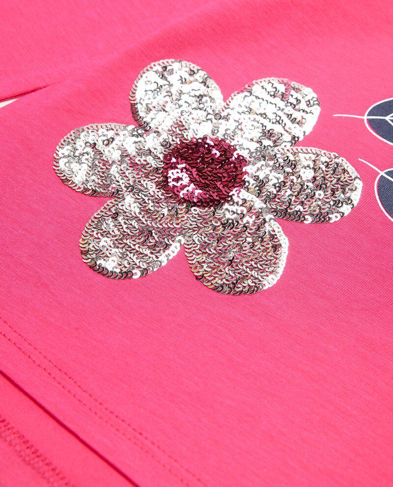 Maglia in cotone elasticato con paillettes neonata
