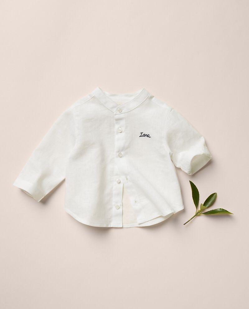 Camicia misto lino tinta unita MADE IN ITALY cover