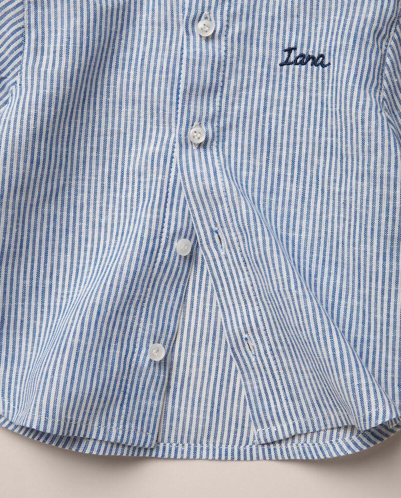 Camicia in misto lino rigata MADE IN ITALY single tile 1