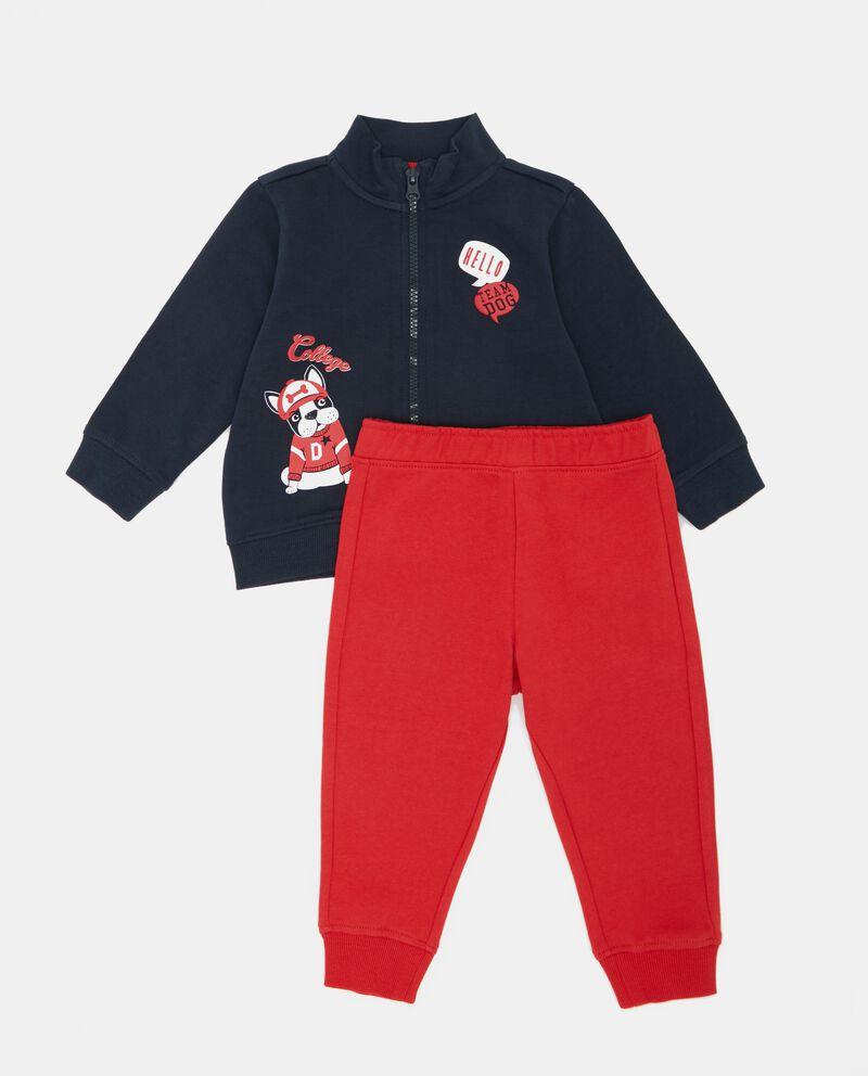Set felpa zip e pantaloni neonato