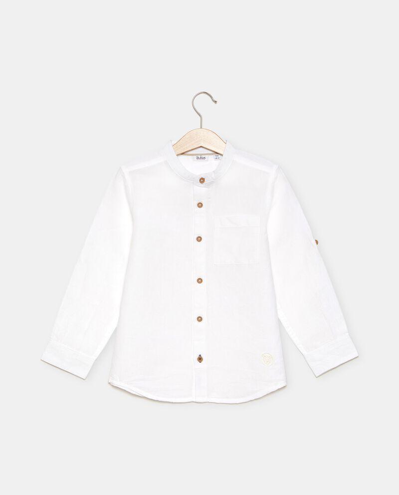 Camicia in cotone organico misto lino bambino cover
