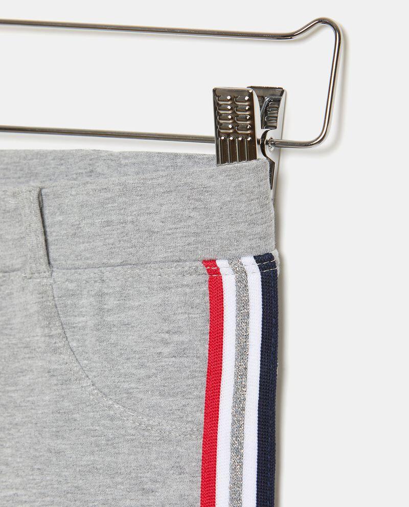 Pantaloni di cotone elasticizzato con bande ragazza single tile 1