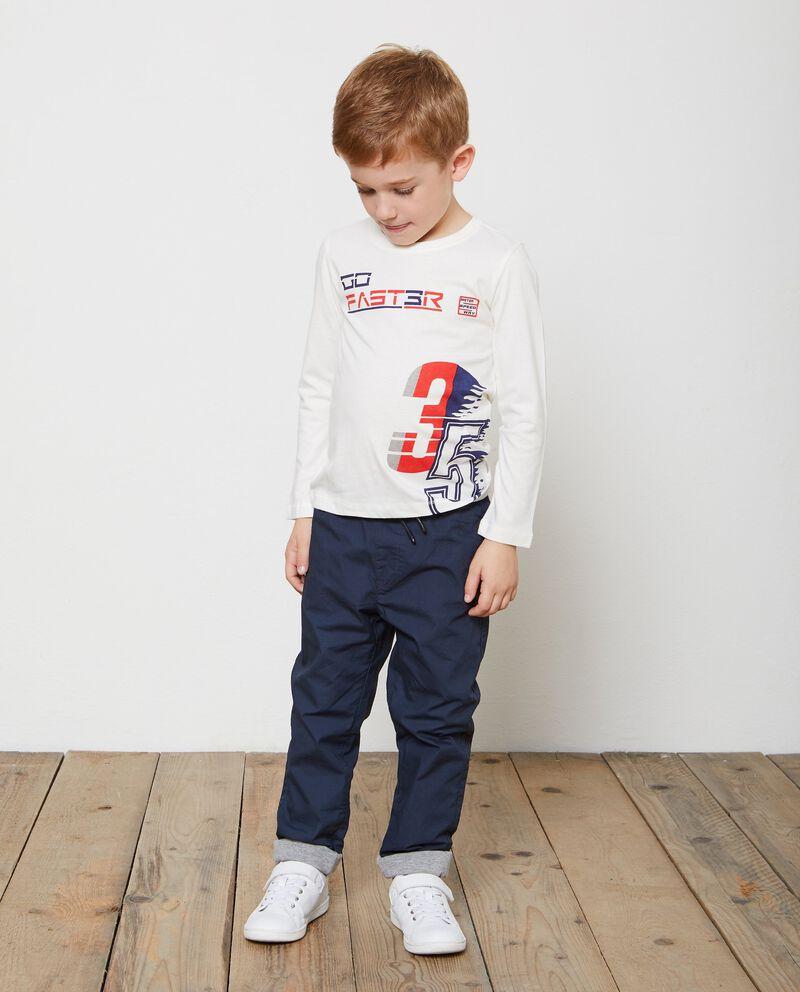 T-shirt puro cotone girocollo lettering