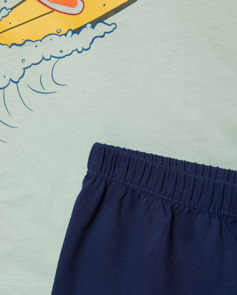 Set pigiama con t-shirt e shorts puro cotone bambino