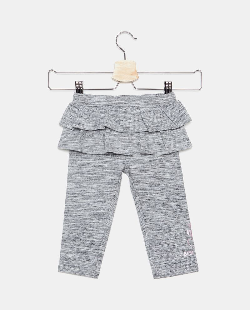 Leggings con balze neonata