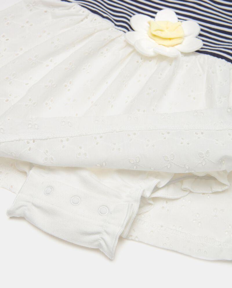 Vestito in jersey con fondo sangallo neonatadouble bordered 1