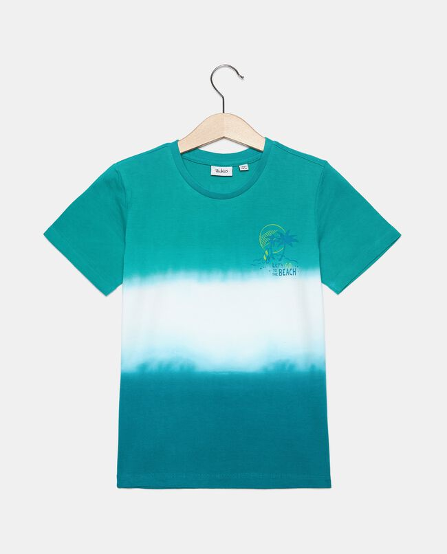 T-shirt stampa tie and dye in cotone organico bambino