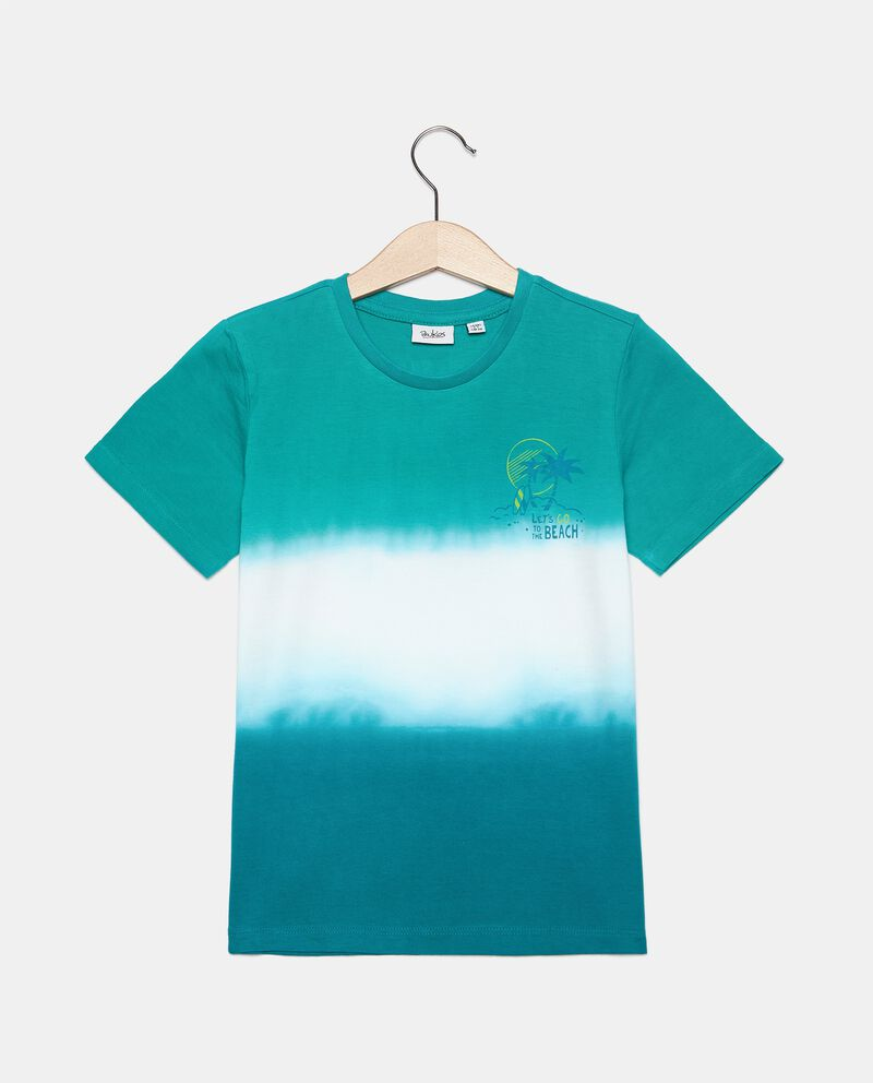 T-shirt stampa tie and dye in cotone organico bambino cover