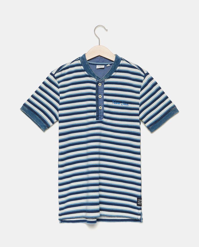 T-shirt in puro cotone con motivo a righe ragazzo