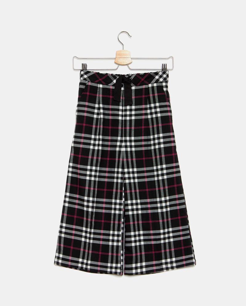 Pantaloni ampi a quadri ragazza
