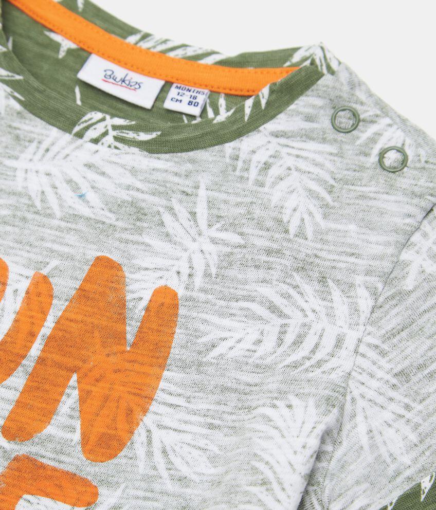 T-shirt in cotone organico stampata neonato double 2
