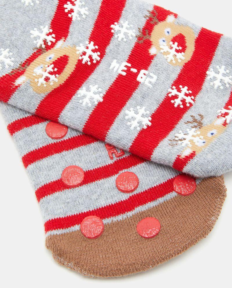 Bipack calzini antiscivolo in cotone biologico bambino