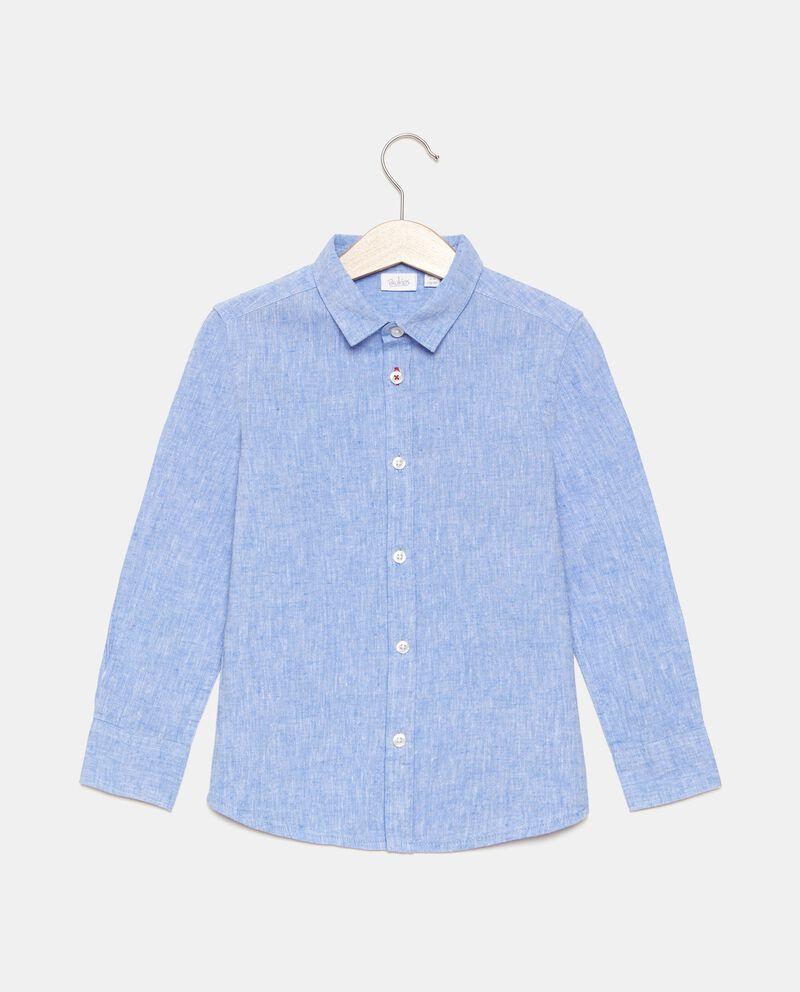 Camicia in cotone misto lino bambino cover