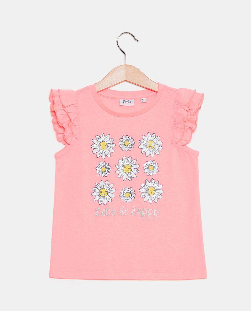 T-shirt in jersey cotone organico con stampa bambina