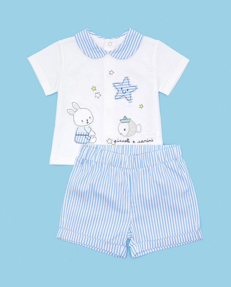 Set in puro cotone con t-shirt e shorts