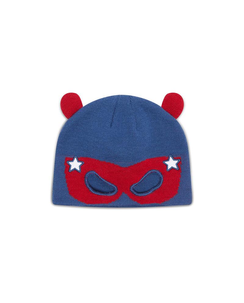 Cappello a cuffia ricami supereroe