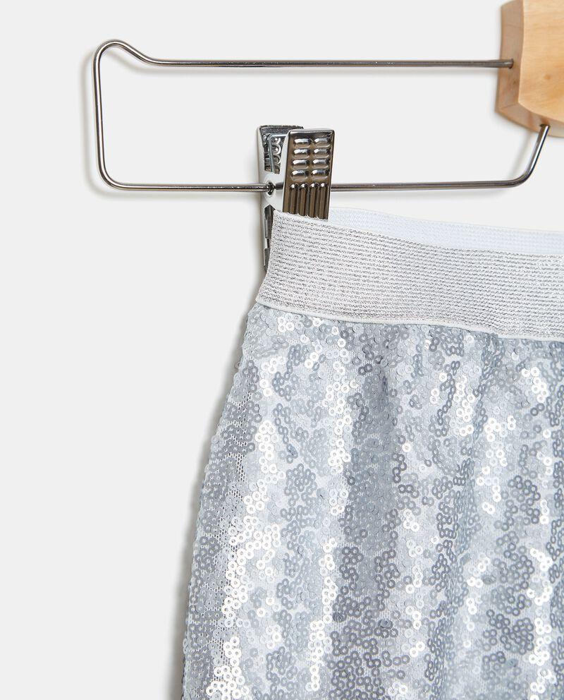 Shorts in tessuto di paillettes bambina single tile 1