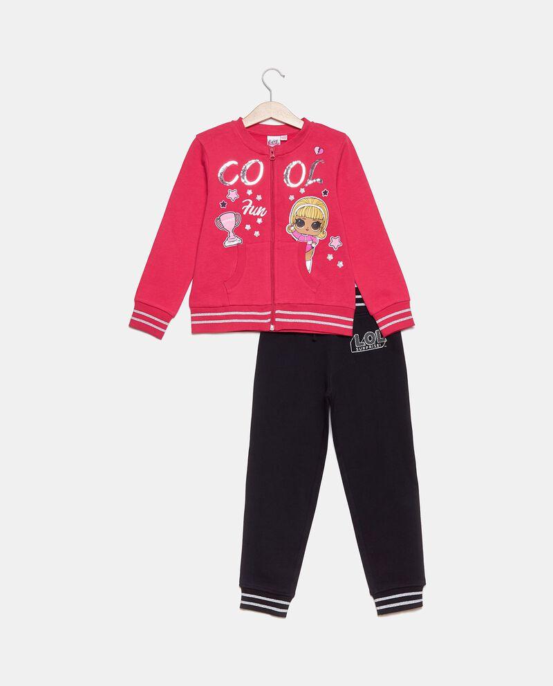Set con felpa e pantaloni puro cotone bambina cover