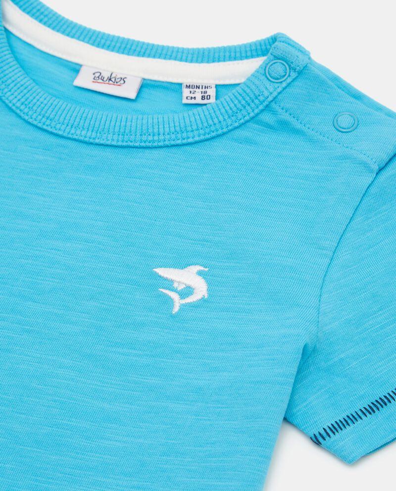 T-shirt in slub cotone organico neonato