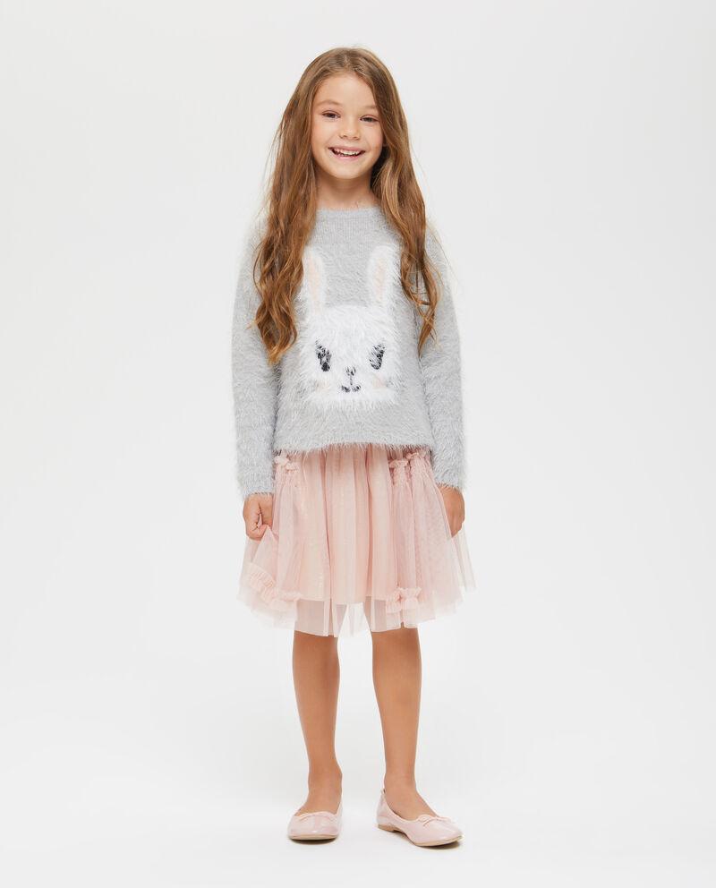 Pullover effetto sfilacciato coniglietto