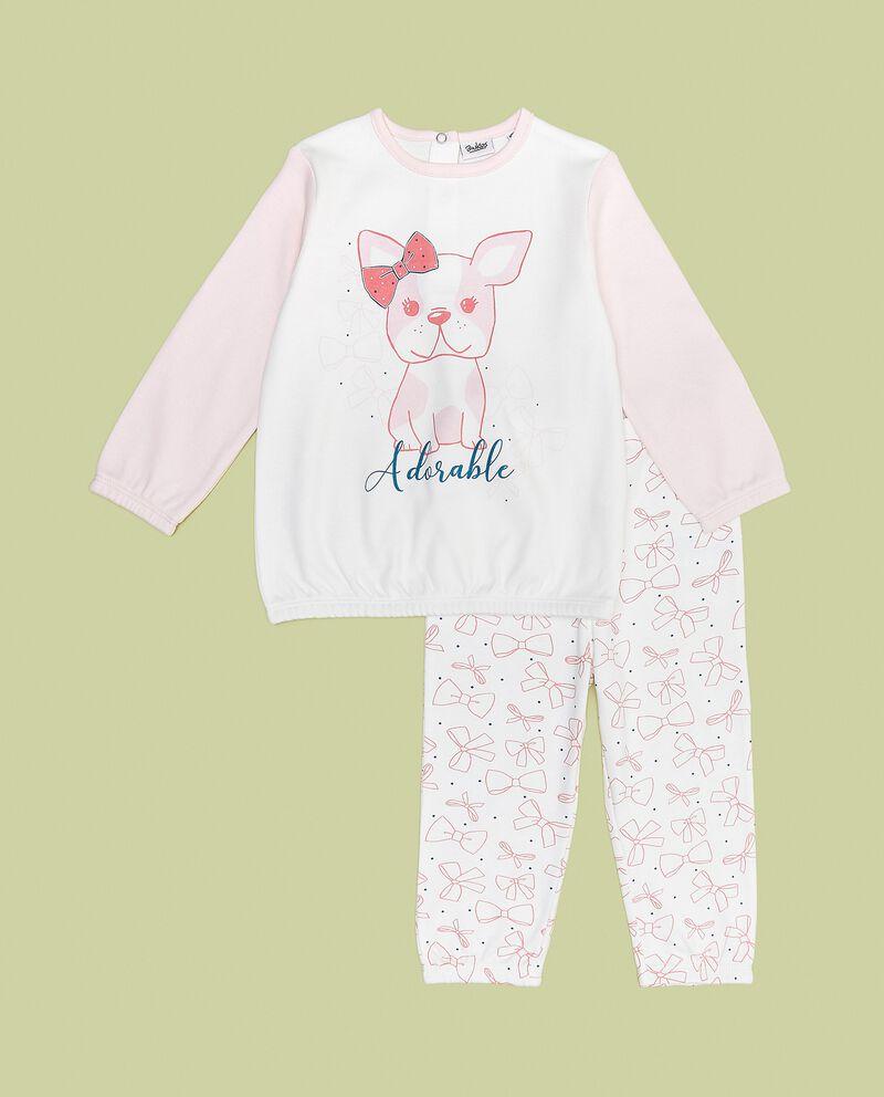 Set pigiama con stampa in puro cotone neonata