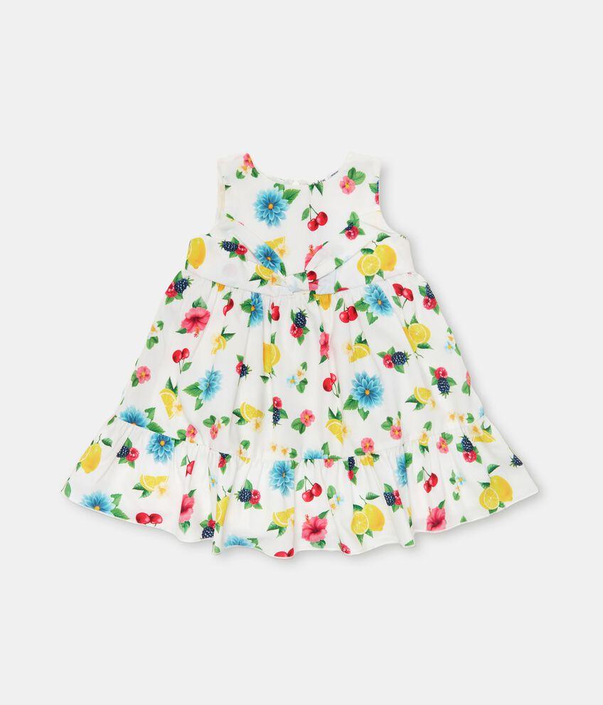 Vestito stampato in american crepe neonata double 1