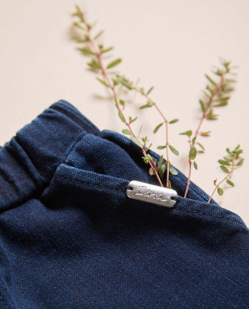 Pantaloni in felpa denim IANA Made in Italydouble bordered 1