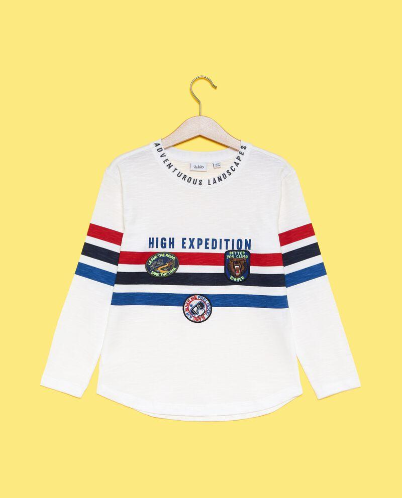 Maglietta con righe colorate bambino