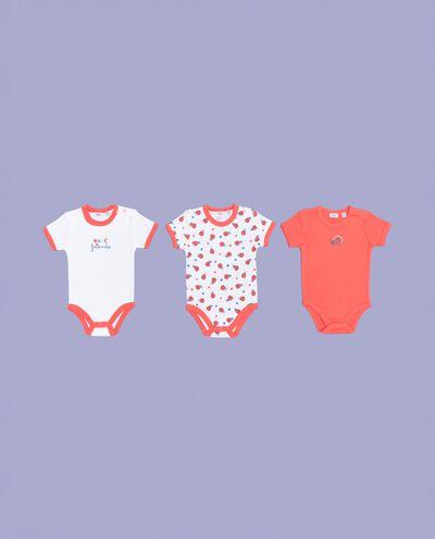 Tripack body per bebè in puro cotone