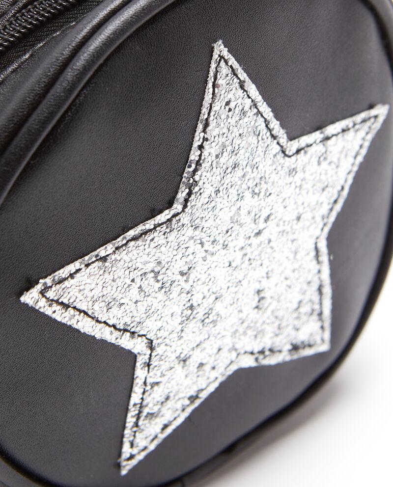 Borsa a tracolla rotonda stella glitter