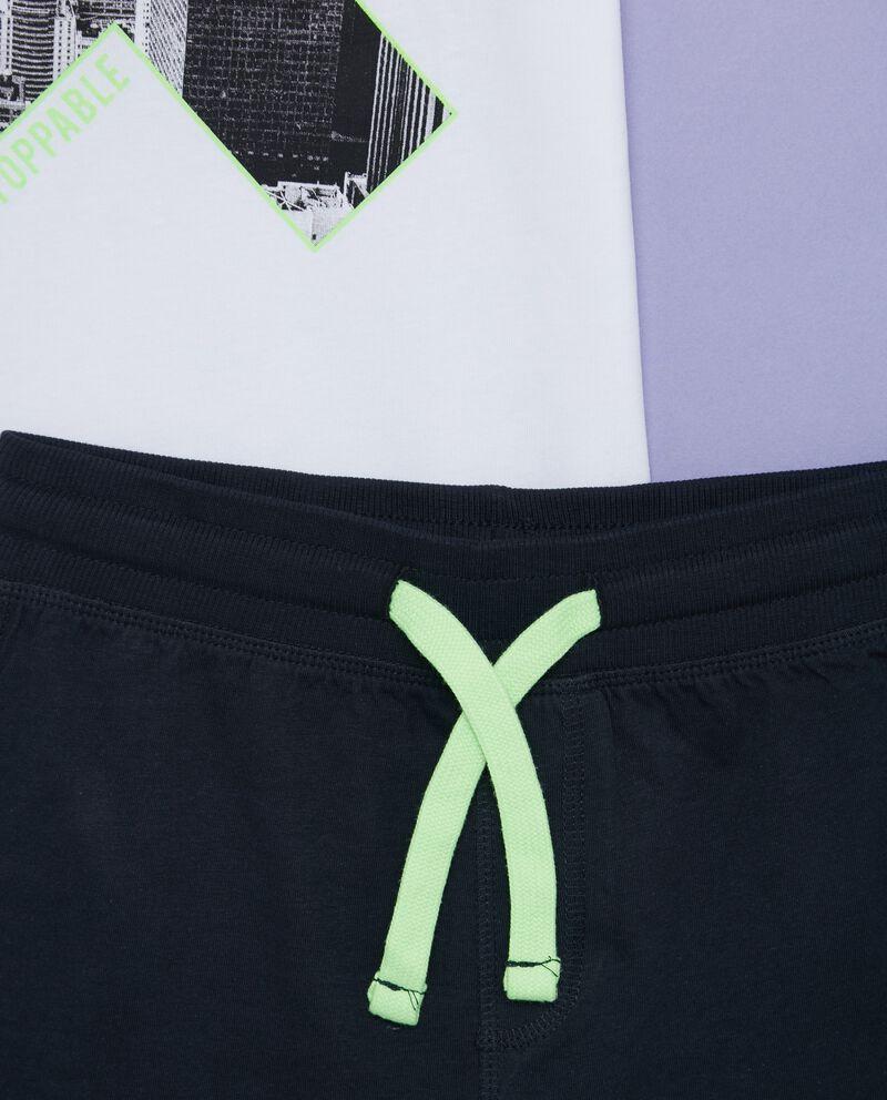 Set t-shirt e shorts in tinta unita ragazzo
