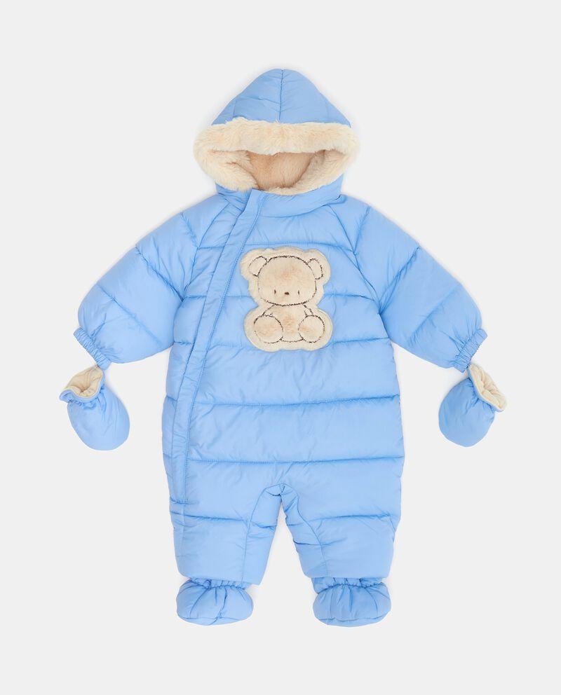 Tutina imbottita con cappuccio guanti e piedini neonato